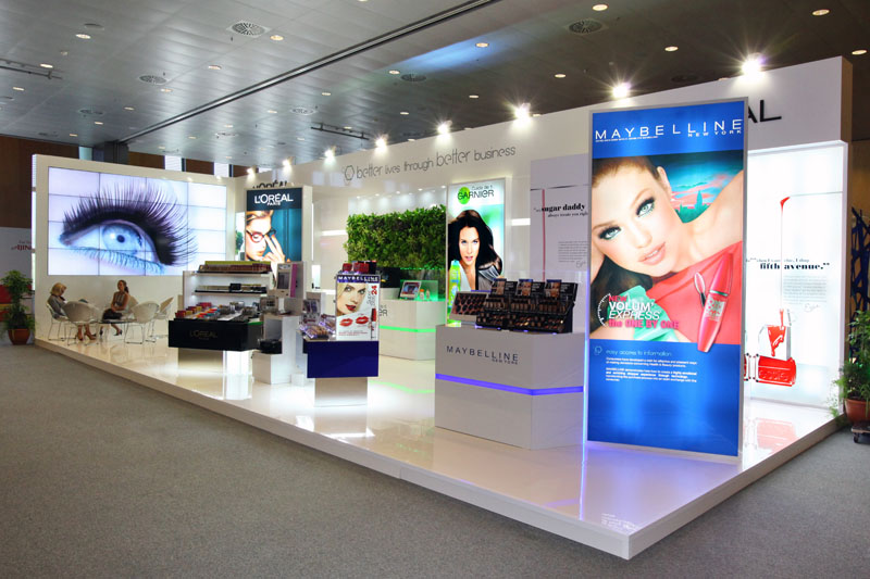 Exhibition Stand In Spanish : L oréal stand